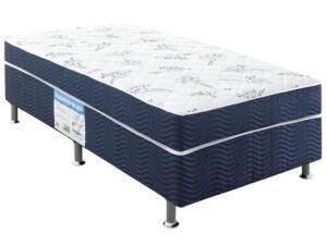 Cama Box Solteiro Ortobom Conjugado 43cm de Altura - Physical Blue | R$ 341
