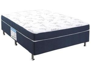 Cama Box Casal Ortobom Conjugado 43cm de Altura - Physical Blue   R$ 489