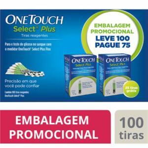 Tiras Reagentes One Touch Select Plus 100 Unidades R$138