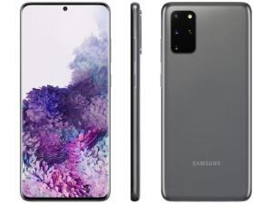 "Smartphone Samsung Galaxy S20+ 128GB Cosmic Gray - 8GB RAM Tela 6,7"" R$2872"