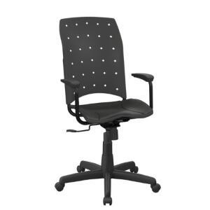 Cadeira Giratória Plaxmetal Presidente Rodízios - Preto | R$282