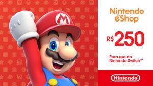 Gift Card Nintendo eShop R$250 | R$220