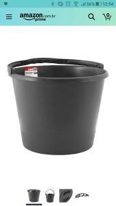 Balde de Plástico para Concreto, Nove 54, 12 L