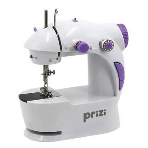 Mini Máquina de Costura Portátil Prizi à Pilha e Bivolt com Iluminação | R$89