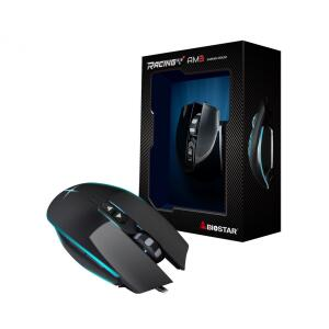 Mouse Gamer Biostar Racing AM3, 5000 DPI, 7 Botões, Black - R$90