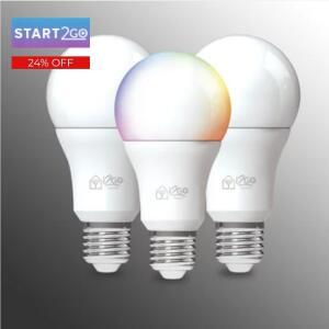 Kit 3 Lâmpadas Inteligentes I2GO - R$250