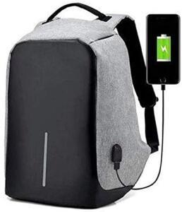 Mochila Anti-furto Com Compartimento P/Notebook Saida USB Para Carregamento De Dispositivos R$80