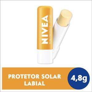Protetor Solar Hidratante Labial Nivea Sun Protect Alta Proteção FPS 30 4,8g | R$9