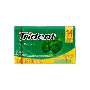 Goma de Mascar Menta 14S Trident 25,2g R$3,63