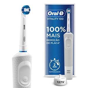 Escova Elétrica Recarregável Vitality Precision Clean 110V, Oral B | R$105