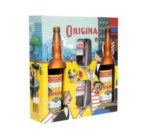 (Cliente Ouro) Kit Cerveja Antarctica Original 600ml 2 Unidades - com 2 Copos - R$14