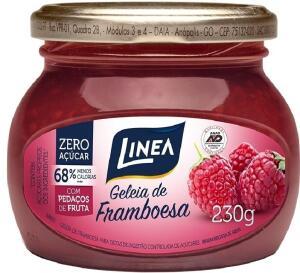 Geleia de Framboesa com Pedaços de Frutas Zero Açúcar Linea | 230 g | R$ 9