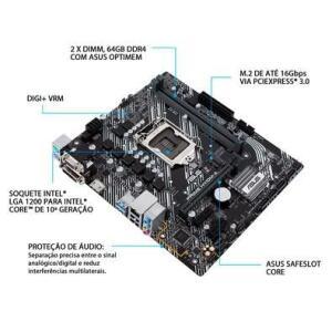 Placa mãe Asus H410M-A socket 1200 10° geração Intel | R$500