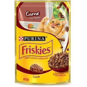15 Unidades Nestlé Purina Friskies Ração Úmida Para Gatos Adultos Carne Ao Molho 85G R$21