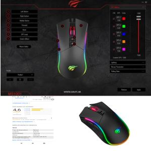 Mouse Gamer Havit MS1001 4800DPI Preto RGB, HV-MS1001 | R$70
