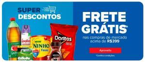 Frete grátis nas compras de mercado online acima de R$399