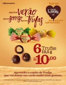 [Cacau Lovers] 6 Trufas 13,5g por R$10,00