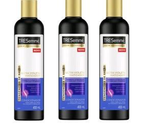3 unidades - Condicionador Tresemmé Ultra Violeta Matizador 400ml   R$8 cada