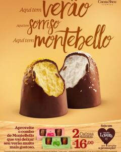 [Cacau Lovers] 2 Caixas MonteBello por R$16,00