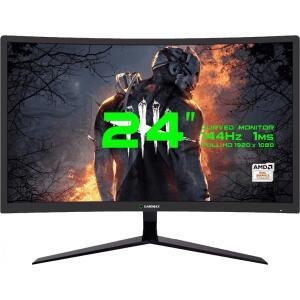 Monitor Gamer GameMax 24 Pol Curvo, Full HD, 144Hz, 1ms, Black, GMX24C144   R$1.380