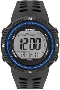 Relógio Mormaii, Pulseira Polimero, Masculino, Preto R$150