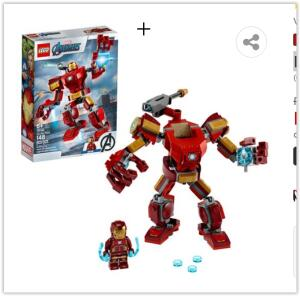 LEGO Super Heroes - Robô Iron Man 76140 - 148 Peças | R$ 62