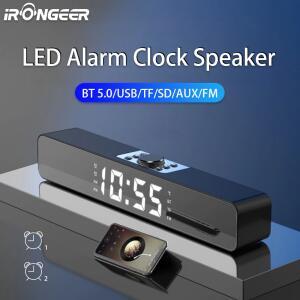 Soundbar despertador Led tv aux usb com fio bluetooth | R$92