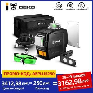 Medidor de Nível a Laser DEKO DC Series 12 Lines 3D | R$424