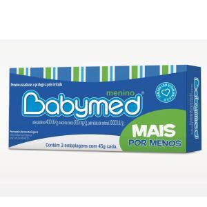 Kit Pomada Para Assaduras Babymed Menino 45g 3 Unidades | R$ 10