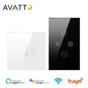 Avatto wi-fi inteligente ventilador interruptor de luz, ue/eua ventilador de teto