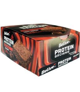 Protein Brownie Double Chocolate Sem Açúcar Belive Display   10 unid de 40g   R$40