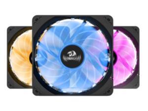 Kit Fan com 3 Unidades Redragon, RGB, 120mm, Com Controladora, GC-F006 | R$129