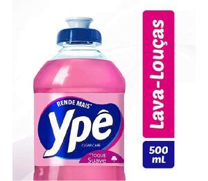 (recorrência)Lava Louças Ypê Clear Care 500Ml, Ypê, Rosa ( Min. 2) | R$1,61
