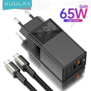 Carregador Kuulaa 65W - Saída USB C e USB A | R$69