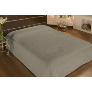 Cobertor Casal Camesa em Microfibra 180g/m² - Bege | R$40