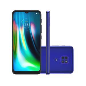 "Smartphone Motorola Moto G9 Play 64GB Azul Safira 4G Tela 6.5"" R$1169"