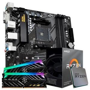 Kit Upgrade TITO: Placa-Mãe Gigabyte B550M DS3H + Processador AMD Ryzen 5 3600 + Memória XPG Spectrix D41 x Tuf Gaming (2x8GB)