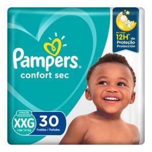 Fralda Pampers Confort Sec XXG | 30 unid | R$ 0.74 a tira
