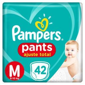 Fralda Pampers Pants Ajuste Total M 42 unidades | R$30