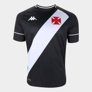 Camisa Vasco I 20/21 s/n° Torcedor Kappa Masculina - Preto e Branco