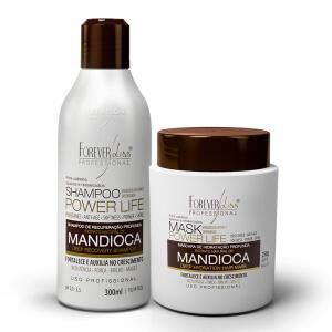 Kit Shampoo e Máscara de Mandioca Power Life - Forever Liss | R$28