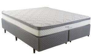 Cama Box Queen Size Herval Ômega com Pillow Top e Molas Ensacadas 60x158x198cm - R$999