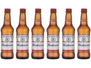 [APP] [MagaluPay R$19] Cerveja Budweiser Pack American Standard Lager - 6 Unidades 330ml - R$24