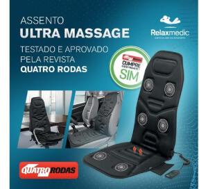Assento Massageador Ultra Massage Relaxmedic R$179