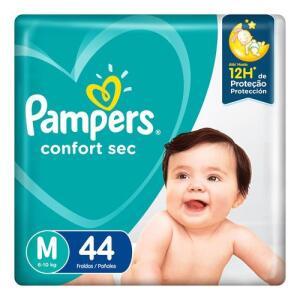 Fralda Pampers Confort Sec M 44 Unidades R$17 (0,38 cada tira)