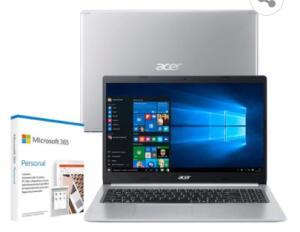 "Notebook Acer Core i5-10210U 8GB 256GB SSD Placa de Vídeo 2GB Tela 15.6"" R$ 3482"