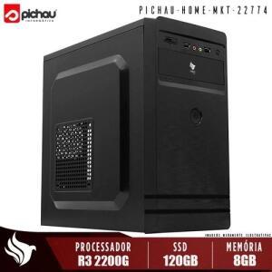 PC Home Pichau, AMD Ryzen 3 2200G, 8GB DDR4, SSD 120GB, 500W - R$1792