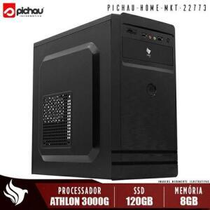 PC Home Pichau, AMD Athlon 3000G, 8GB DDR4, SSD 120GB, 500W | R$1431