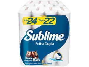 (CLIENTE OURO) Papel Higiênico Folha Dupla Sublime Softys - 24 Rolos 30m R$13