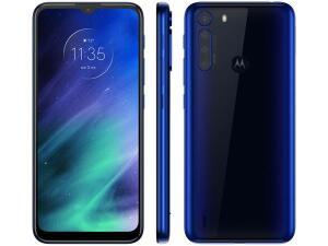 "[APP+CLIENTE OURO] Smartphone Motorola One Fusion 64GB Azul Safira - 4G 4GB RAM Tela 6,5"" R$1227"